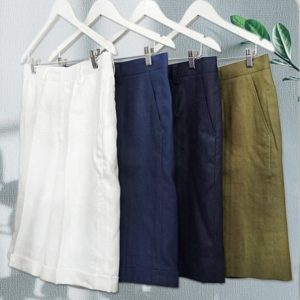 Linen is much more sustainable than cotton, and much more comfortable as well!
