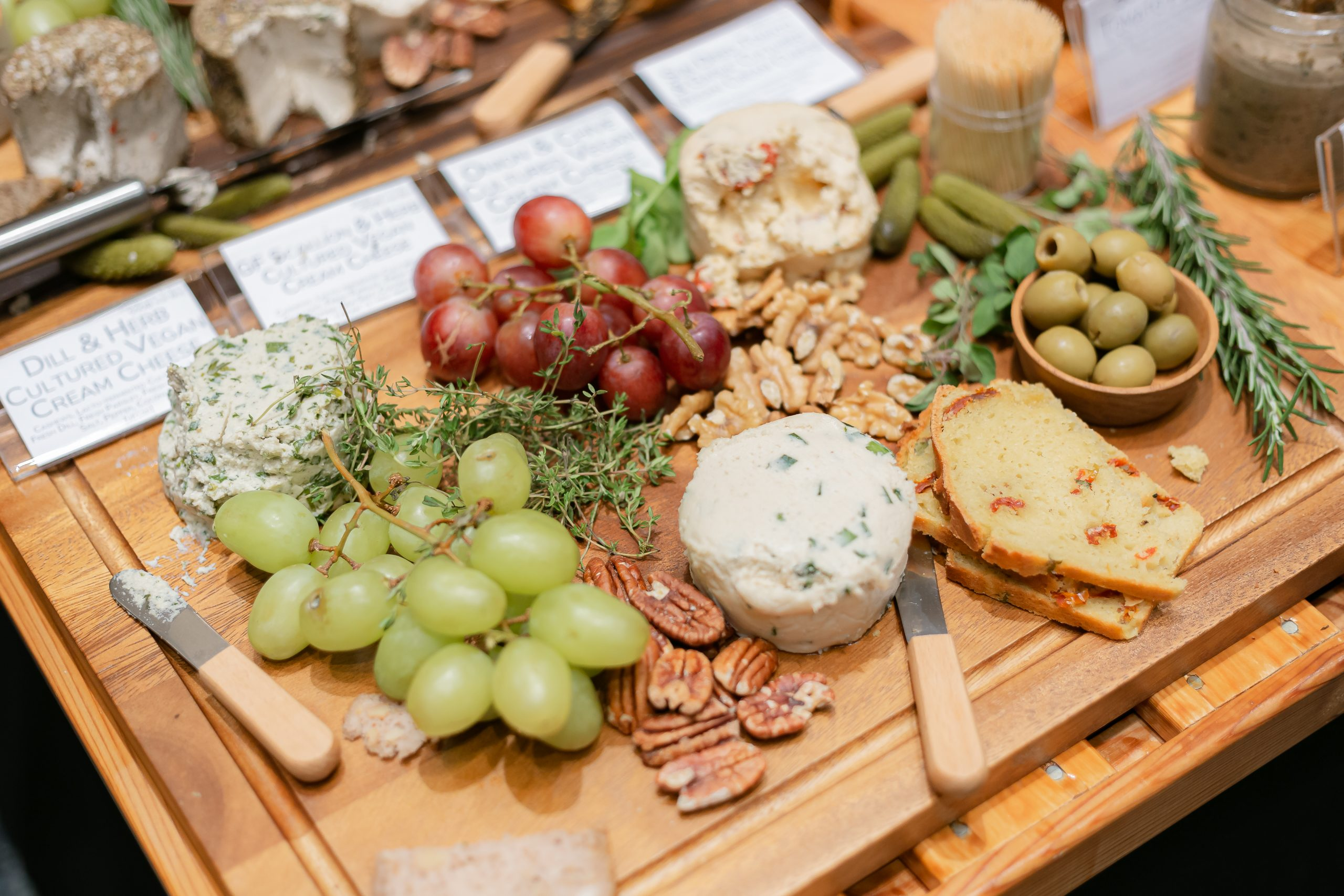 Cheese, nuts, grapes and bread! everyone's favorite!