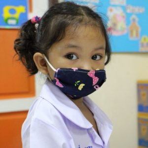 The Kids are now wearing mask and following the regulations to prevent COVID-19.